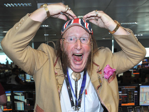 John McCririck BGC Annual Global Charity Day held at Churchill Place. London