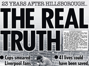 The Sun, 13/09/2012 - Front cover apologising for their false reports of the Hillsborough tragedy