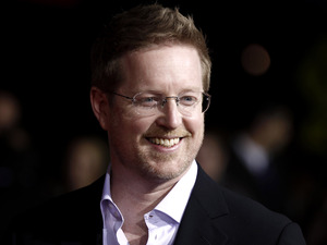"Writer and director Andrew Stanton arrives at the premiere of ""John Carter"" in Los Angeles, Wednesday, Feb. 22, 2012"