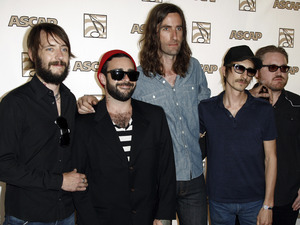 Band of Horses, from left Ben Bridwell, Creighton Barrett, Tyler Ramsey, Bill Reynolds and Ryan Monroe, arrives at the 28th Annual ASCAP Pop Music Awards in Los Angeles, Wednesday, April 27, 2011