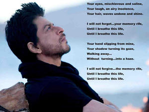 Shah Rukh lyrics posted on twitter