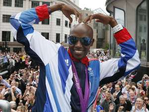Mo Farah, London 2012 parade