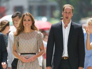 Prince William and Kate Middleton on the Diamond Jubilee tour in Singapore