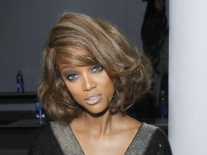 Tyra Banks at NYFW 12.09.12