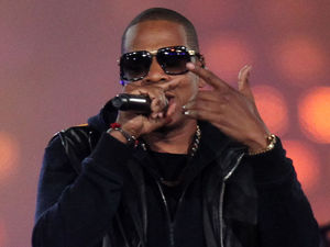 Jay-Z performs during the Paralympic Games closing Ceremony at the Olympic Stadium
