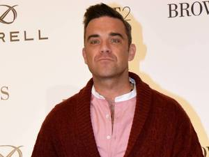 Robbie Williams launches his menswear clothes label 'Farrell' with designer Ben Dickens at Brown Thomas