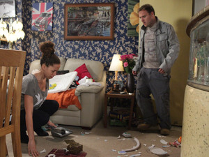 Tyrone is shocked when he returns to find Kirsty and the house in a state