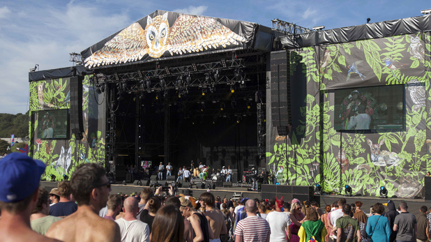 General View of the main stage at Bestival 2012