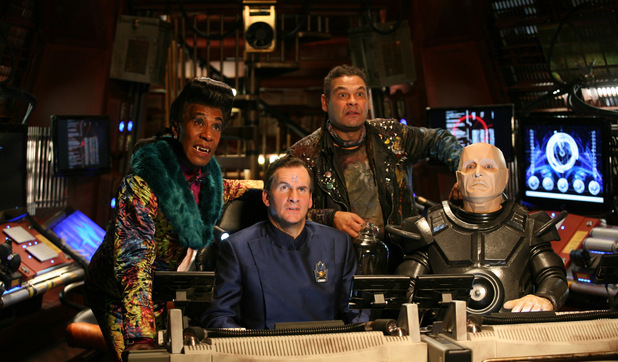 Cat, Rimmer, Lister and Kryten
