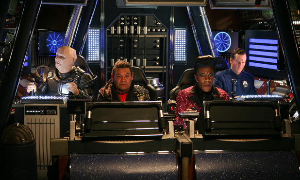 Kryten, Lister, Cat and Rimmer