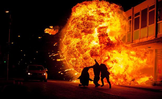 EastEnders Joey, Lauren, Derek explosion