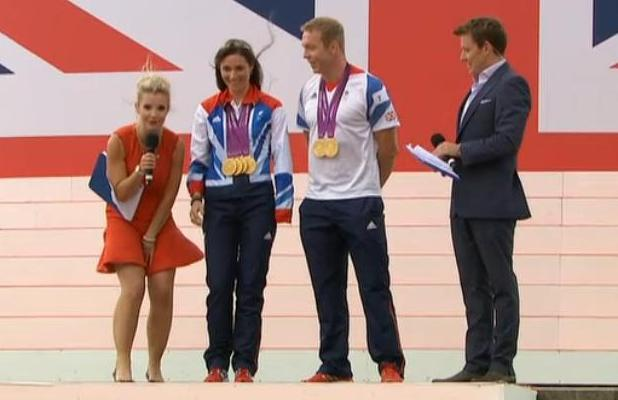 Helen Skelton accidentally flashes her knickers