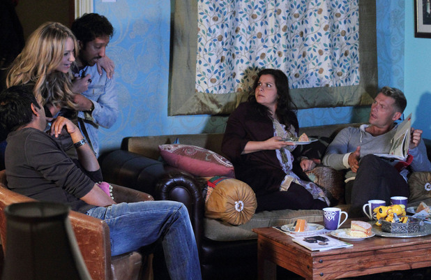 Roxy and AJ gate crash the Masoods' night in.