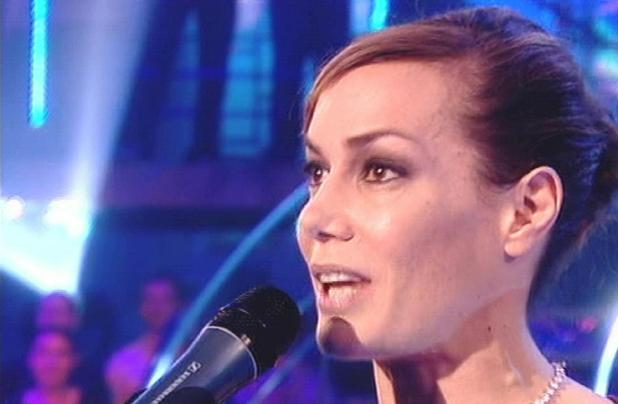 Tara Palmer-Tomkinson performs on TV show ' Comic Relief Does Fame Academy ' . Shown on BBC1. England - 15.03.07