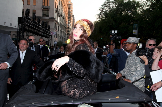 Lady Gaga  arrives at the Lady Gaga 'Fame' Fragrance Launch at the Guggenheim Museum