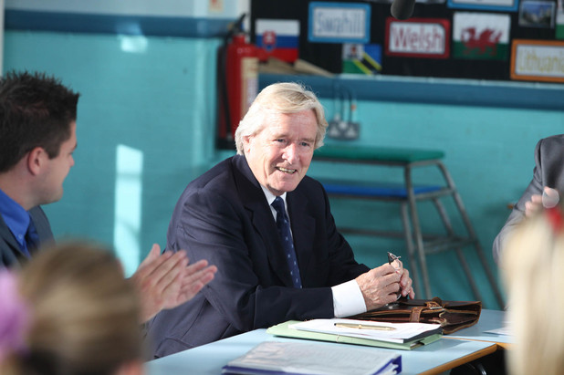 Ken attends a governors' meeting in Corrie