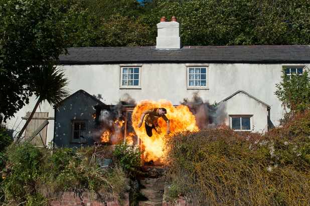 Hollyoaks blasted from house