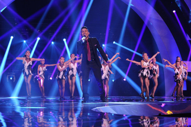 The Untouchables and Frankie J at the final of America's Got Talent 2012
