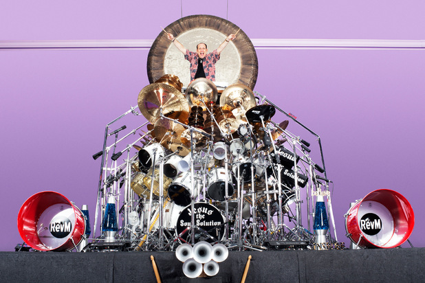 The largest drum set