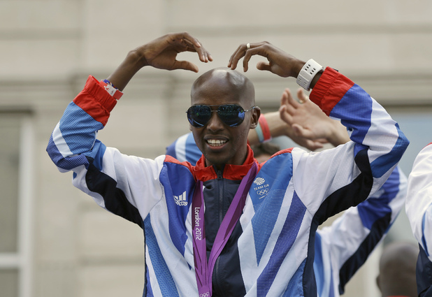 Mo Farah London Olympic Parade 2012