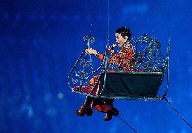 Rihanna perform during the Paralympic Games closing Ceremony at the Olympic Stadium