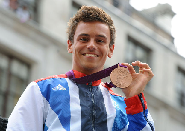 Tom Daley at the London 2012 Olympic Parade