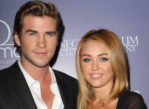 Liam Hemsworth, Miley Cyrus Australians In Film Awards & Benefit Dinner 2012 held at The InterContinental Hotel - Arrivals Los Angeles, California - 27.06.12 Mandatory Credit: FayesVision/WENN.com