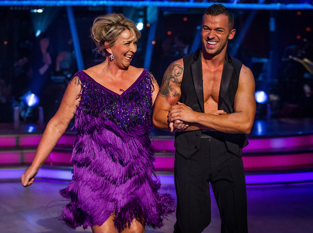 Fern Britton and Artem Chigvintsev