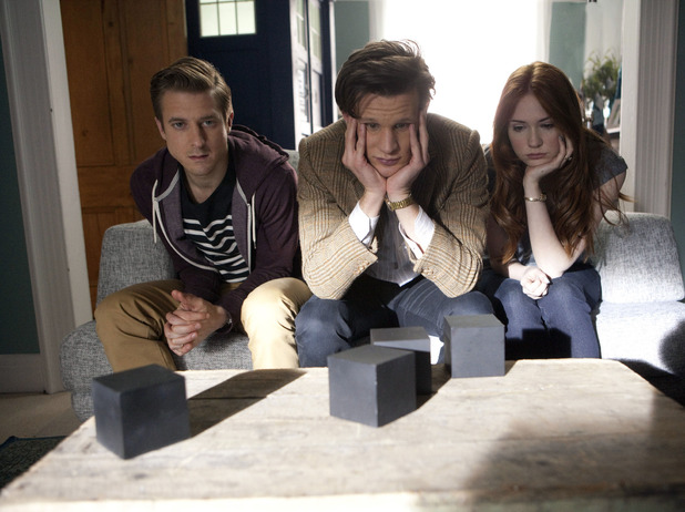 Doctor Who S07E04 - 'The Power of Three': Rory Williams (ARTHUR DARVILL), The Doctor (MATT SMITH), Amy Pond (KAREN GILLAN)