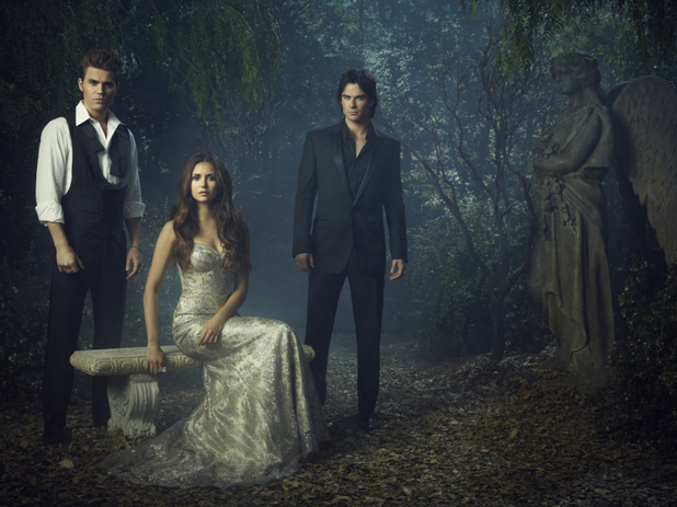 &#39;The Vampire Diaries&#39; Season 4 character portraits: Paul Wesley as Stefan, Nina Dobrev as Elena, and Ian Somerhalder as Damon.