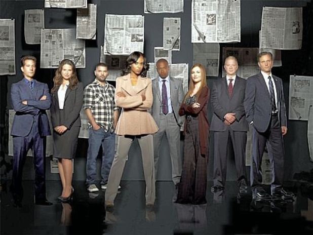 The cast of Scandal