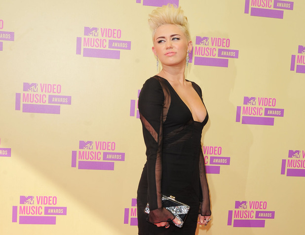 Miley Cyrus 2012 MTV Video Music Awards, held at the Staples Center - Arrivals Los Angeles, California - 06.09.12 **Not available for publication in Germany. Available for publication in the rest of the world** Mandatory Credit: Ian Wilson/WENN.com