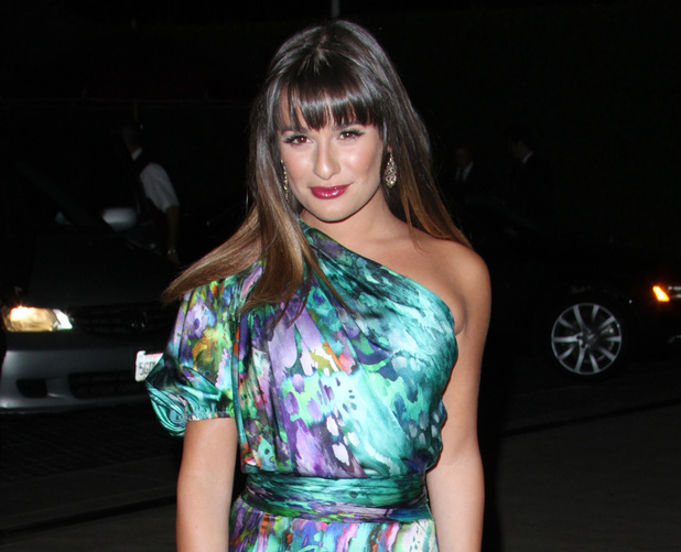 Lea Michele attends the party for Nylon Magazine's September issue.