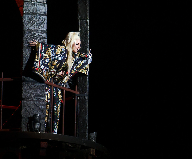 Lady Gaga performs on her &#39;Born This Way Ball&#39; tour at Twickenham Stadium