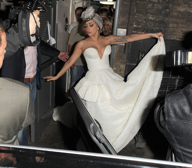 Lady Gaga leaving The Arts Club. London, England