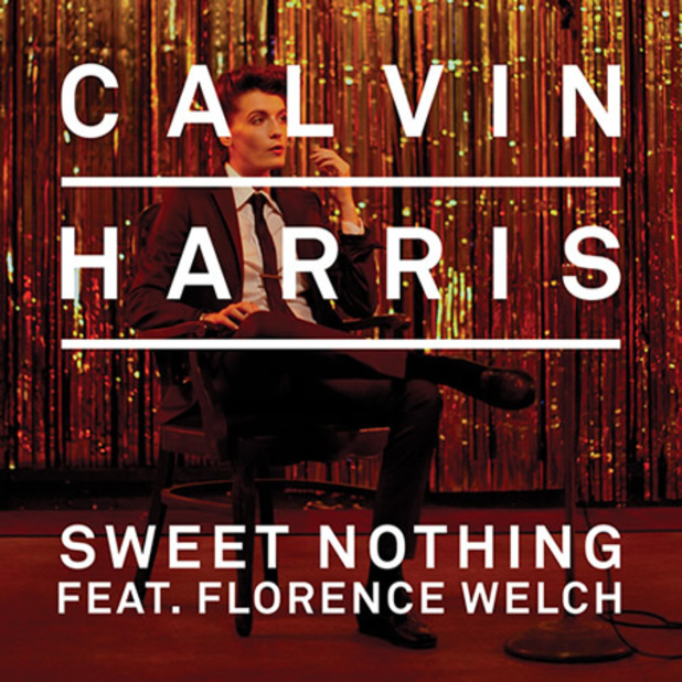 Calvin Harris, Florence + the Machine &#39;Sweet Nothing&#39; single artwork.