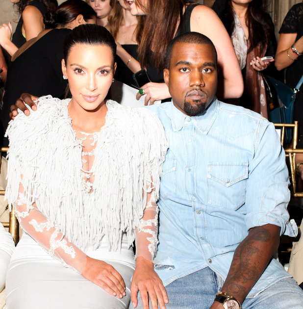 Kim Kardashian, Kanye West, New York Fashion Week 2012