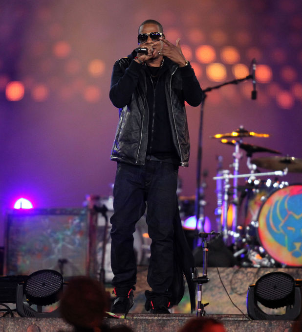Jay-Z performs