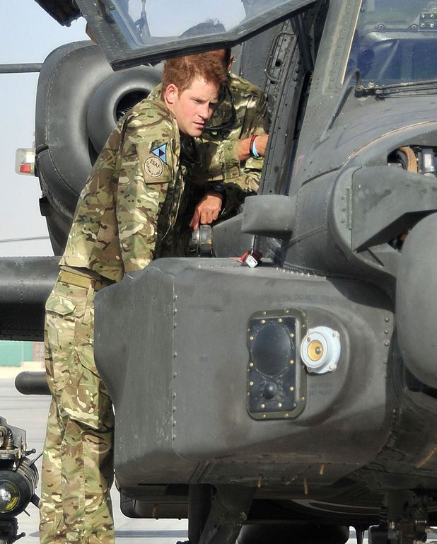 Prince Harry by Helicopter in Afghanistan