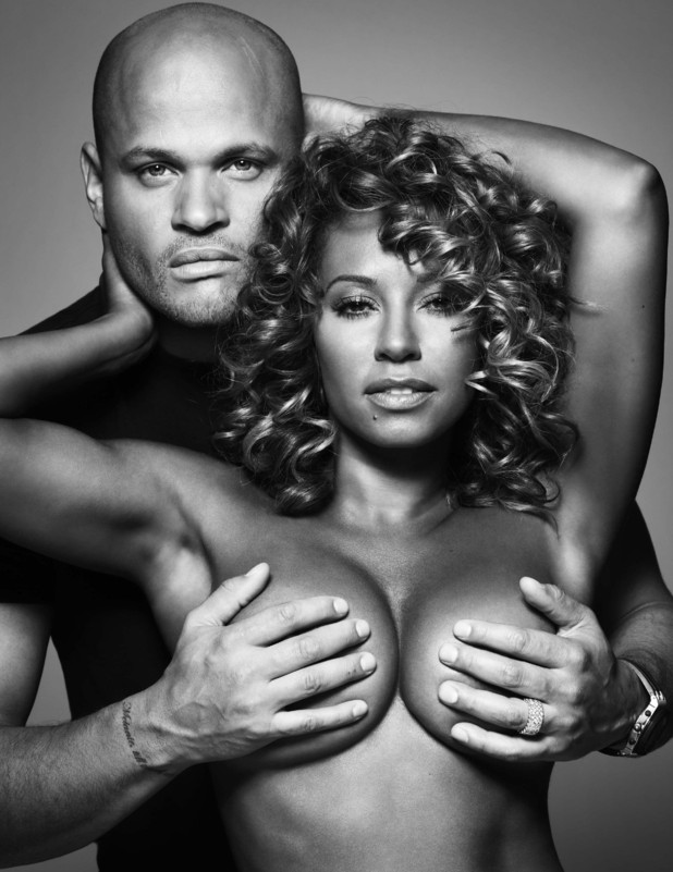 Mel B and Stephen Belafonte bare all for breast cancer in Cosmopolitan.