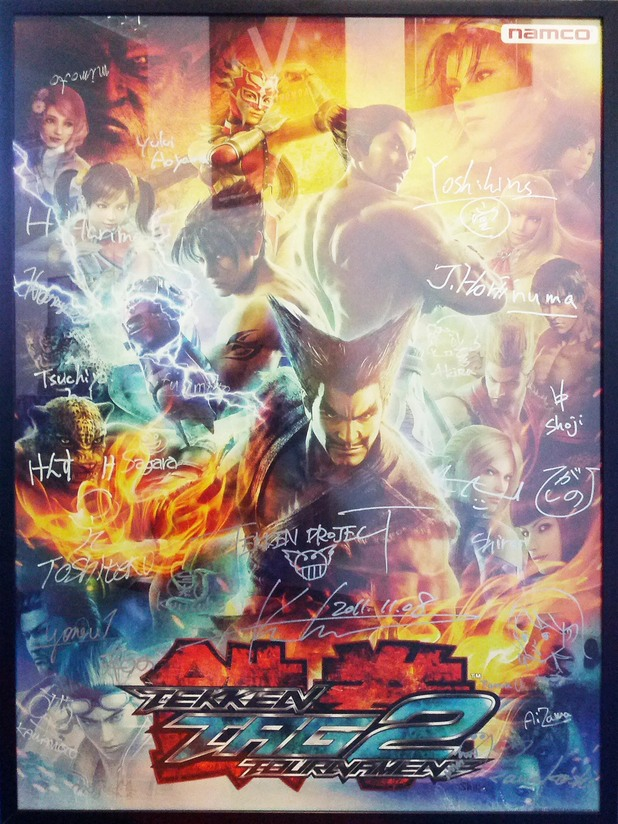 Tekken Tag tournament 2 signed poster