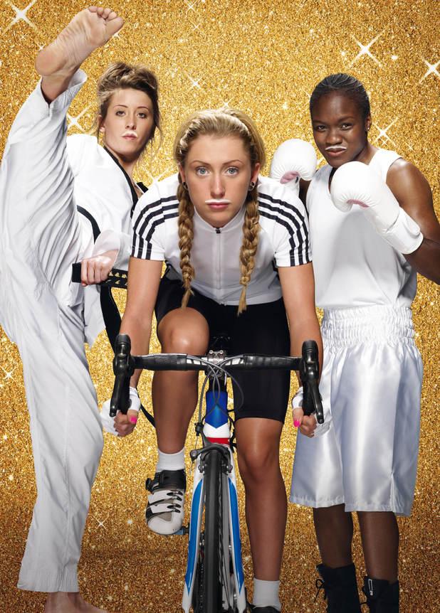 Nicola Adams, Laura Trott and Jade Jones in the latest 'Make Milk Mine' campaign