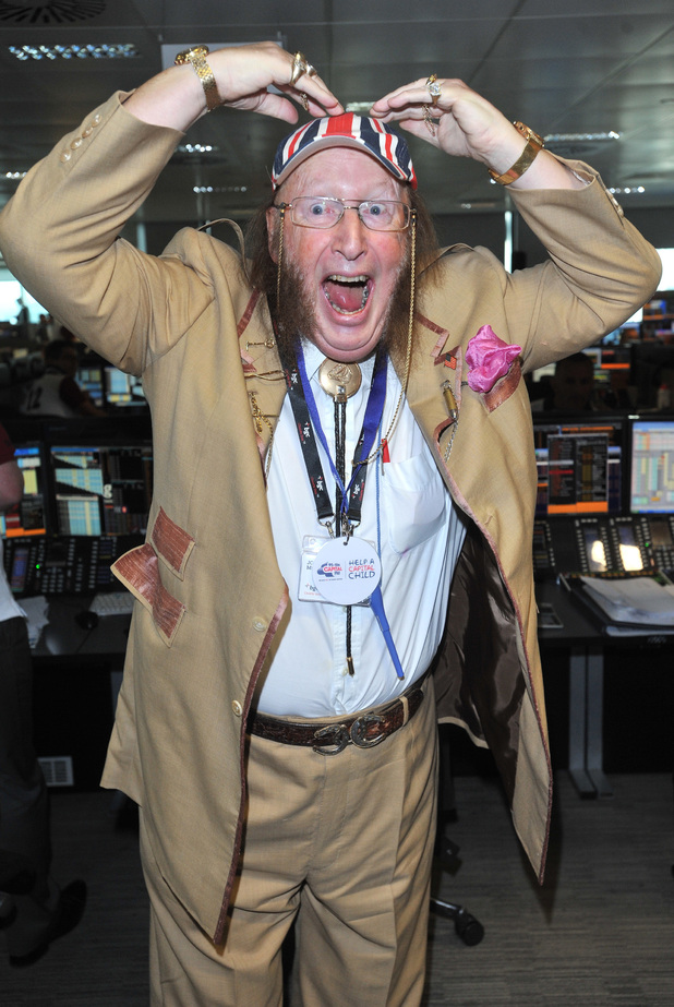 John McCririck BGC Annual Global Charity Day held at Churchill Place.