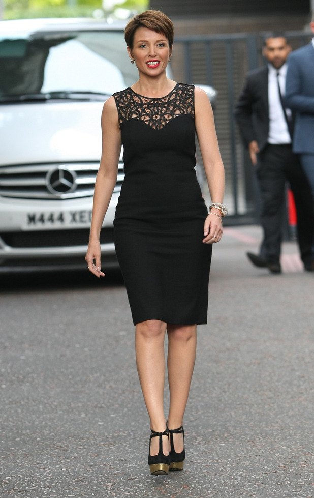 Dannii Minogue outside the ITV studios London