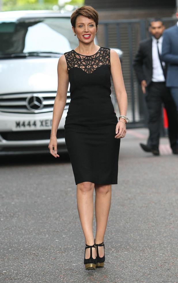Dannii Minogue outside the ITV studios London