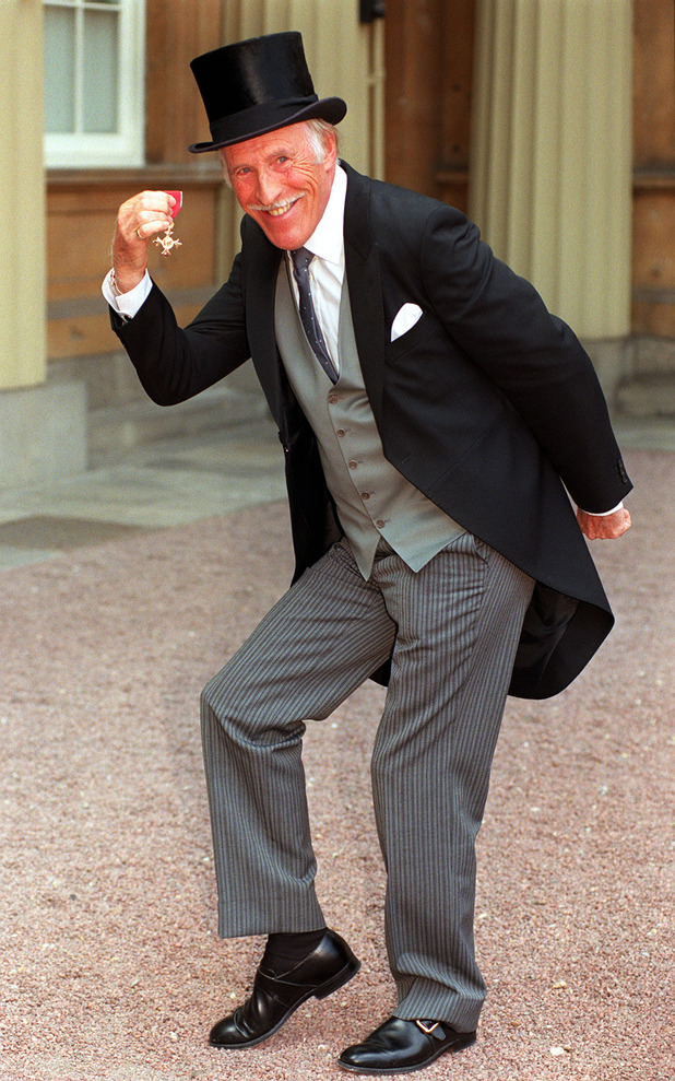 Bruce Forsyth received an OBE
