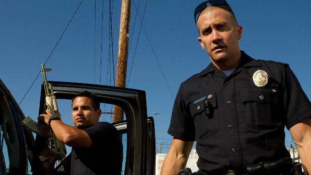 Jake Gyllenhaal and Michael Pena play LAPD cops in David Ayer's 'End of Watch'.