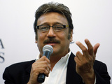 Bollywood actor Jackie Shroff speaks during a promotional event in Bangalore, India