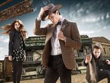 Doctor Who S07E03 - 'A Town Called Mercy': Amy Pond, The Doctor, Rory Williams