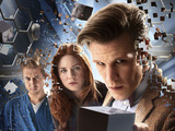 Doctor Who S07E04 - &#39;The Power of Three&#39;: Rory Williams (ARTHUR DARVILL), Amy Pond (KAREN GILLAN), The Doctor (MATT SMITH)